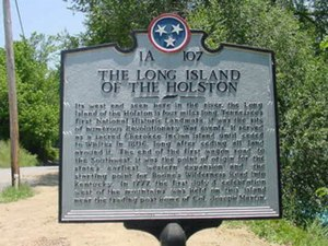 Long Island (Tennessee) - Historic plaque
