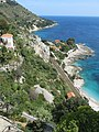Look to the sea and to the rail tracks from Menton and Ventimiglia.jpg