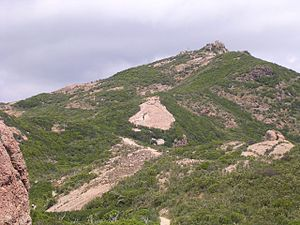 Sandstone Peak - Image: Looking at Sandstone Peak from Inspiration Point
