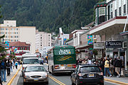 Looking north up S Franklin St., Juneau, AK