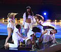 Loreen and her dancers at Art on Ice 2014-5.jpg