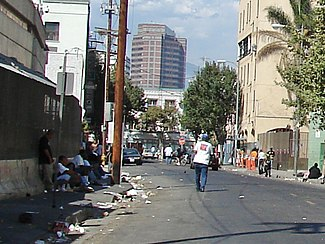 A view of Skid Row