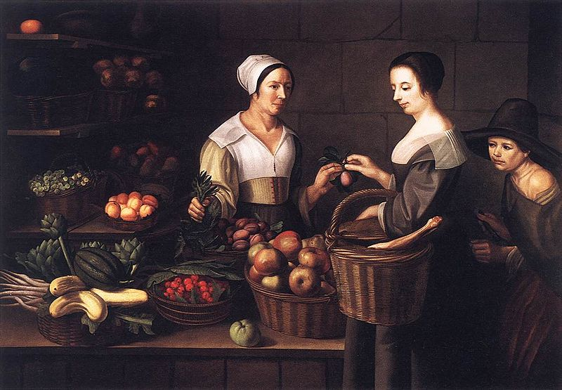 ファイル:Louise Moillon - Market Scene with a Pick-pocket - WGA16072.jpg