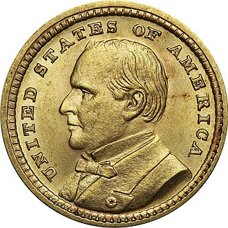 McKinley Birthplace Memorial dollar - The McKinley version of the Louisiana Purchase Exposition dollar