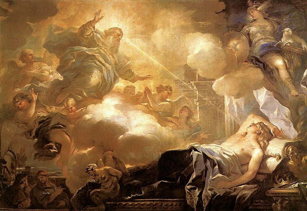 Dream of Solomon by Luca Giordano, c. 1635. (Wikimedia Commons)
