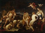 Luca Giordano - Judgment of Paris - WGA9011