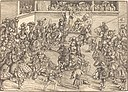 Lucas Cranach the Elder, The Second Tournament with the Tapestry of Samson and the Lion, 1509, NGA 6026.jpg