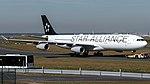 Lufthansa (Star Alliance livery) Airbus A340-300 (D-AIGP) at Frankfurt Airport.jpg
