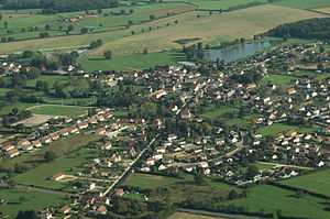 Lusigny - An aerial view of Lusigny