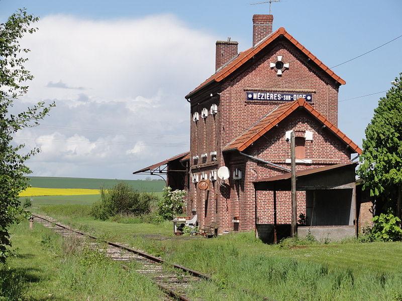 Mézières-sur-Oise (Aisne) ancienne gare