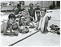 Māori and Pakeha boys at school swimming pool, Auckland (23127854363).jpg