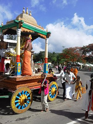 Chamarajanagar district - Temple chariot at M.M.Hills