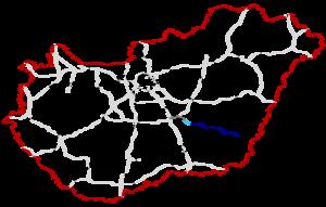 M44 motorway (Hungary) - Image: M44 Autópálya Hungary