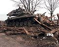 M728 Combat Engineer Vehicle demolishes bunker.jpg