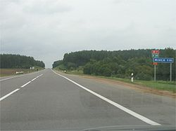 M7 road to Minsk in Belarus.jpg