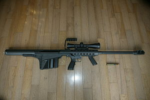 Barrett M82 - M82A2 Rifle with a Leupold Mark 4 scope
