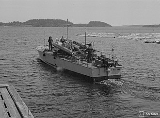MAS (motorboat) - The Italian torpedo boat MAS 528 on Lake Ladoga in June 1942, during the Siege of Leningrad