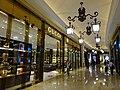 MC 澳門 Macau 路氹城 Cotai 四季名店 Shoppes at Four Seasons mall interior corridor ceiling lamps Nov 2016 Gucci.jpg
