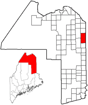 Fort Fairfield, Maine - Image: ME Map location of Fort Fairfield
