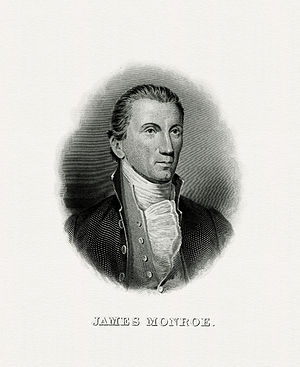 First inauguration of James Monroe - Image: MONROE, James President (BEP engraved portrait)