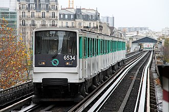 MP 73 - MP 73 at a station on Paris Métro Line 6.