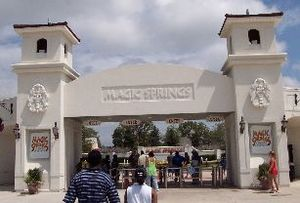 Magic Springs and Crystal Falls - The entrance to Magic Springs Theme and Water Park.