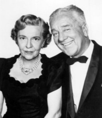 Madge Kennedy - In 1959, with silent screen star Jack Mulhall in publicity photo for Goodyear Theater