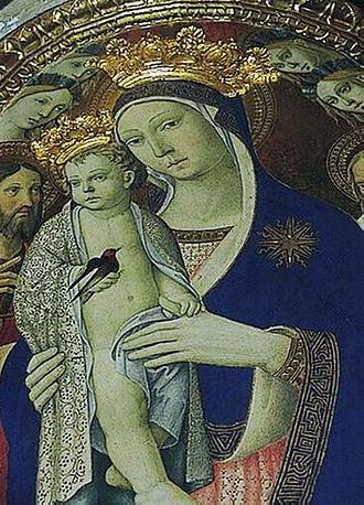 Castel del Piano - The Virgin Mary and Jesus in the church of Santa Maria delle Grazie.