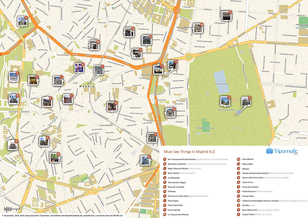 Madrid Spain Map Tourist.File Madrid Printable Tourist Attractions Map Jpg Wikimedia Commons