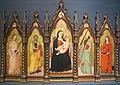 Maestro delle effigi domenicane, madonna col bambino in trono e santi, 1345 ca..JPG