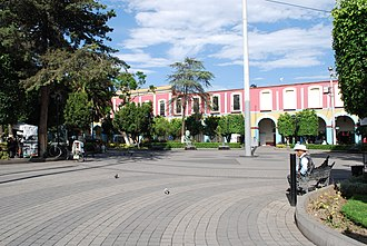 Texcoco, State of Mexico - Part of the main plaza
