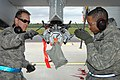 Maintainers for the 127th Aircraft Maintenance Squadron, Selfridge Air National Guard Base, MI fasten a loading ejector rack to an A-10 Thunderbolt II.jpg