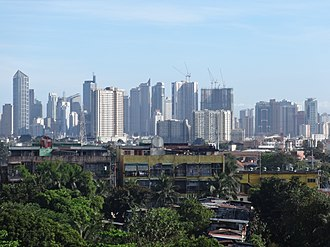 Makati - The Makati Skyline from Santa Mesa.