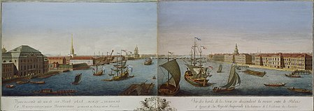 Гравюра Г.А.Качалова по рисунку М.И.Махаева. 1753 г.