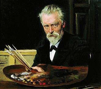 Vladimir Makovsky - Self Portrait,  1905