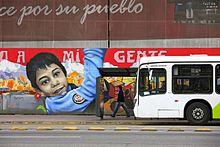 Un murale a Santiago del Cile