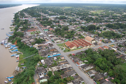 Manicoré town on the banks of the Madeira River