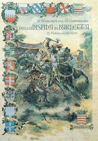 Challenge of Barletta - Image: Manifesto disfida di barletta