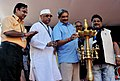 Manohar Parrikar lighting the lamp to inaugurate the silver jubilee celebrations of the Open Forum at the 44th India International Film Festival of India (IFFI-2013), in Panaji.jpg