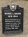 Manuel Quezon historical marker at the Arch of the Centuries UST.jpg