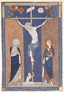 Manuscript Leaf with the Crucifixion, from a Missal MET sf1981-322s1.jpg