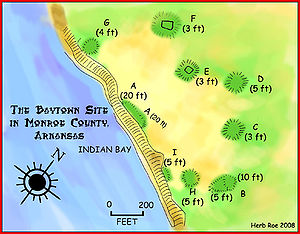 Baytown Site - A map of the Baytown Site