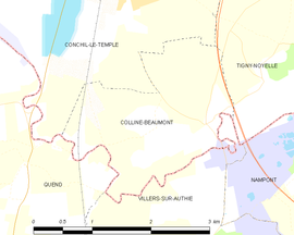 Mapa obce Colline-Beaumont