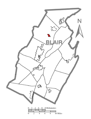 Bellwood, Pennsylvania - Borough location in Blair County