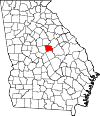 Map of Georgia highlighting Baldwin County.svg
