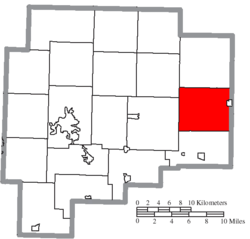 Location of Oxford Township in Guernsey County