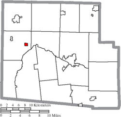 Location of McGuffey in Hardin County