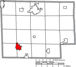 Location of Willard in Huron County
