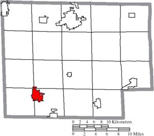 Willard, Ohio - Image: Map of Huron County Ohio Highlighting Willard City