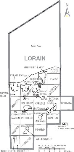 Municipalities and townships of Lorain County